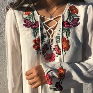 Lovers & Friends | White Embroidered Dress